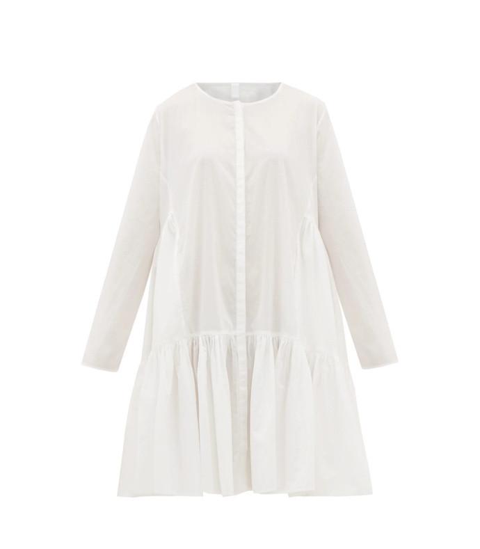 martel tiered cotton-lawn dress
