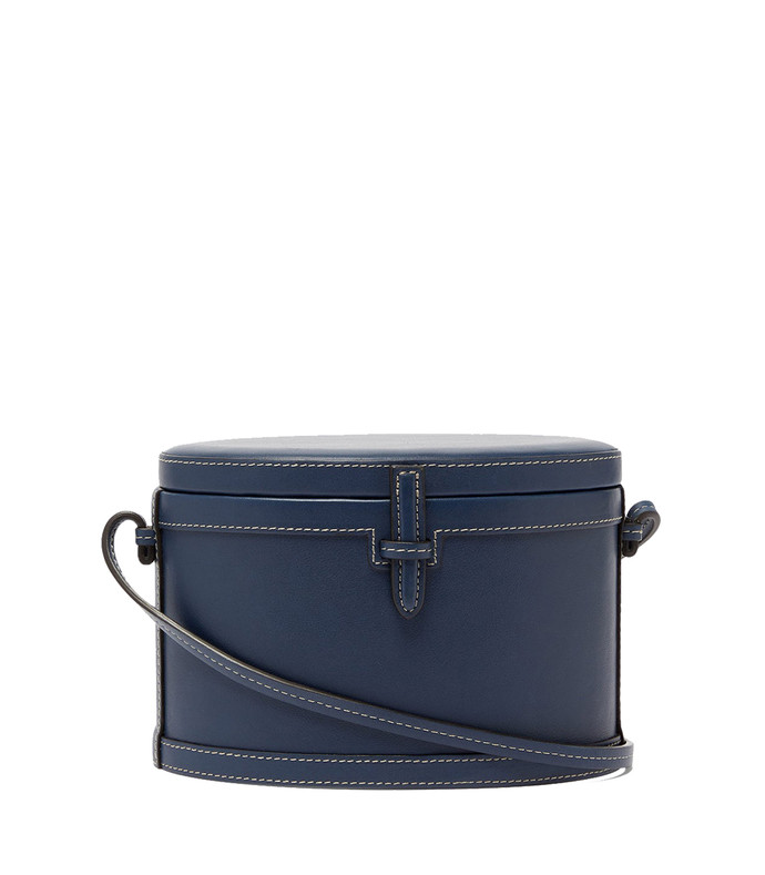 the round trunk leather cross-body bag