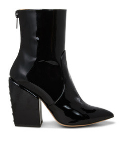solar patent-leather ankle boots