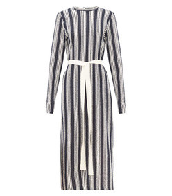 verena striped cotton-blend knitted dress