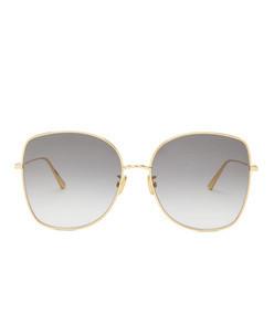 diorstellaire square metal sunglasses