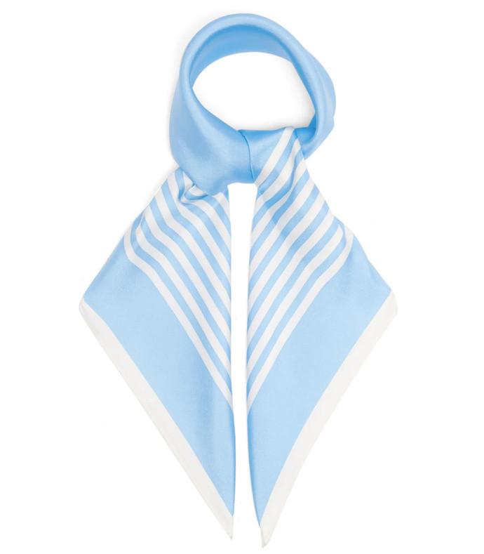 no. 25 striped silk-twill scarf