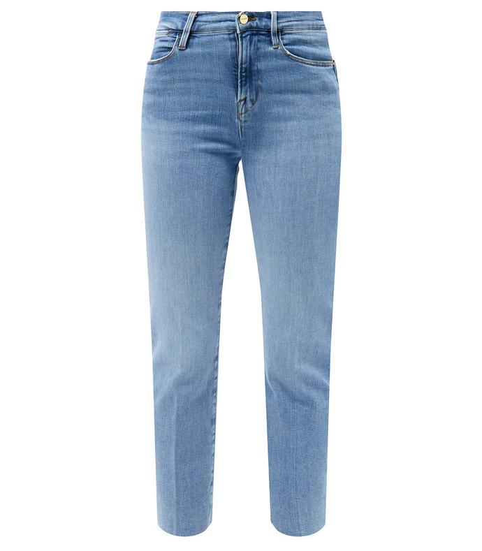 le high straight raw-cut jeans