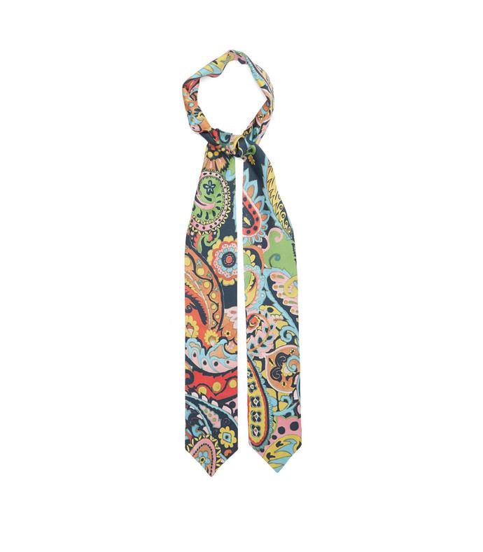 arizona paisley-print silk-satin scarf