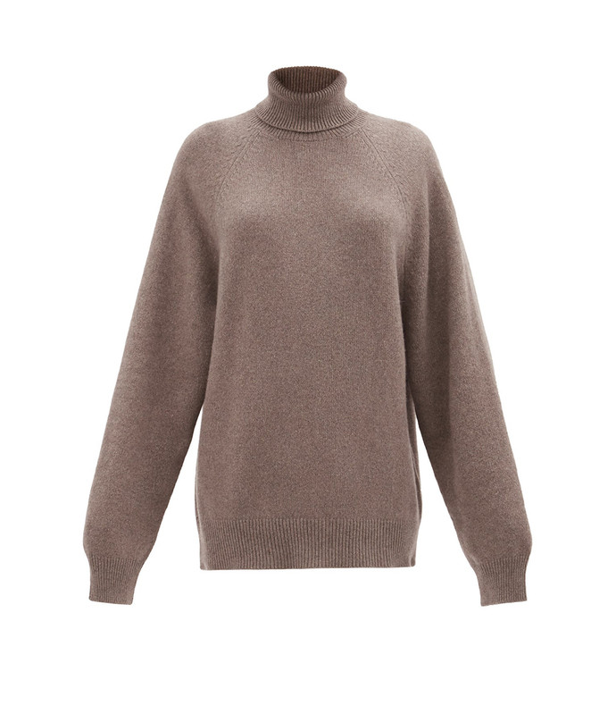 recycled-cashmere blend roll-neck sweater