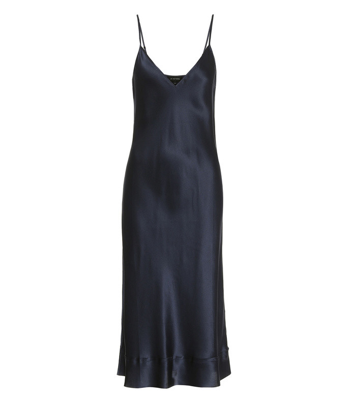 stella silk-satin slip dress