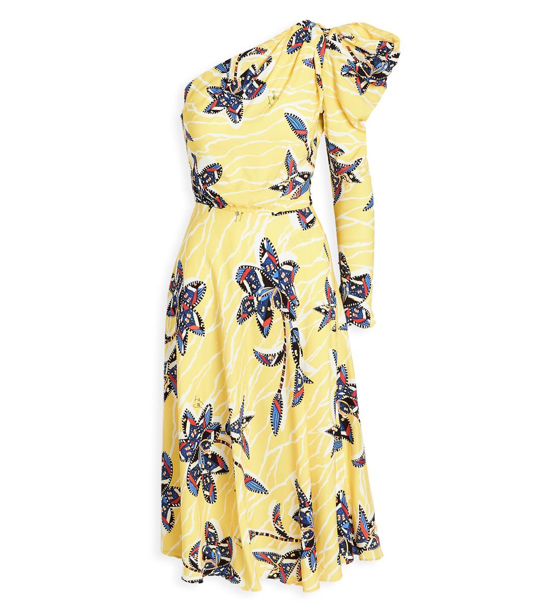 Stella Jean One Shoulder Dress Shopbazaar