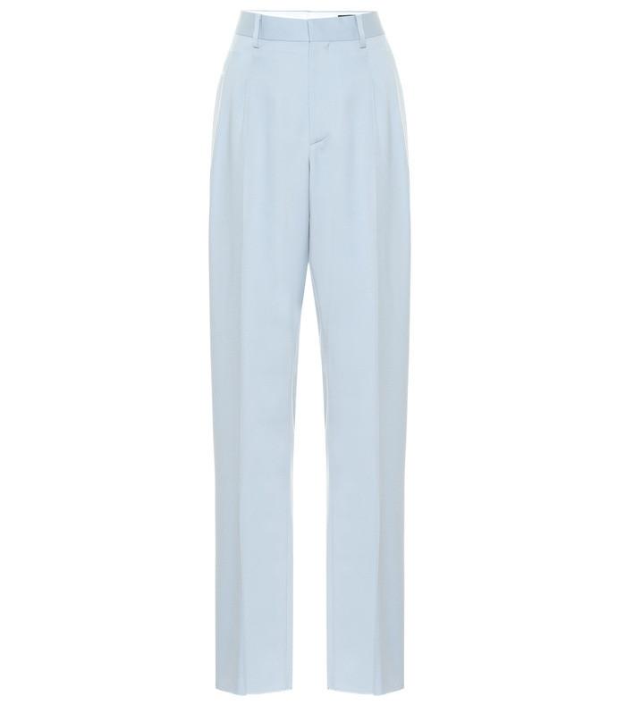 julien high-rise wool straight pants