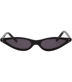 black micro cat-eye sunglasses