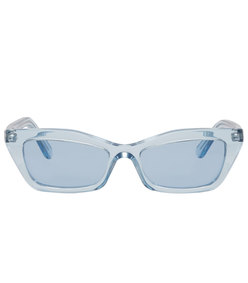 blue thin cat eye sunglasses