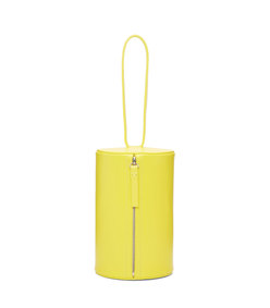 yellow cylinder wristlet pouch