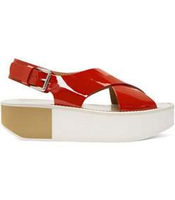 red patent malabis sandals