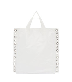 white small rivet detail tote
