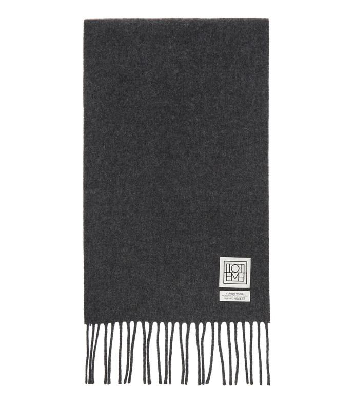 grey wool bova scarf