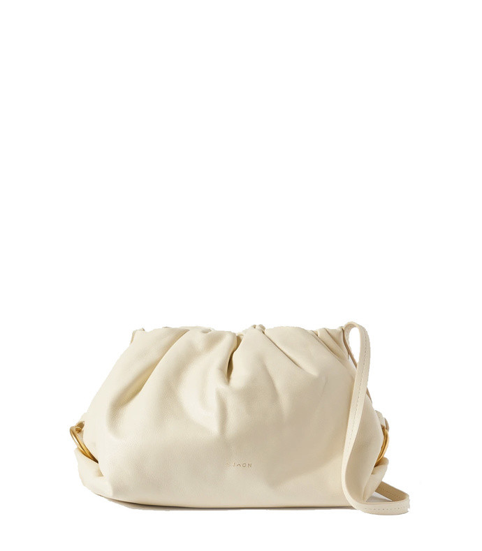 baby bao gathered leather shoulder bag