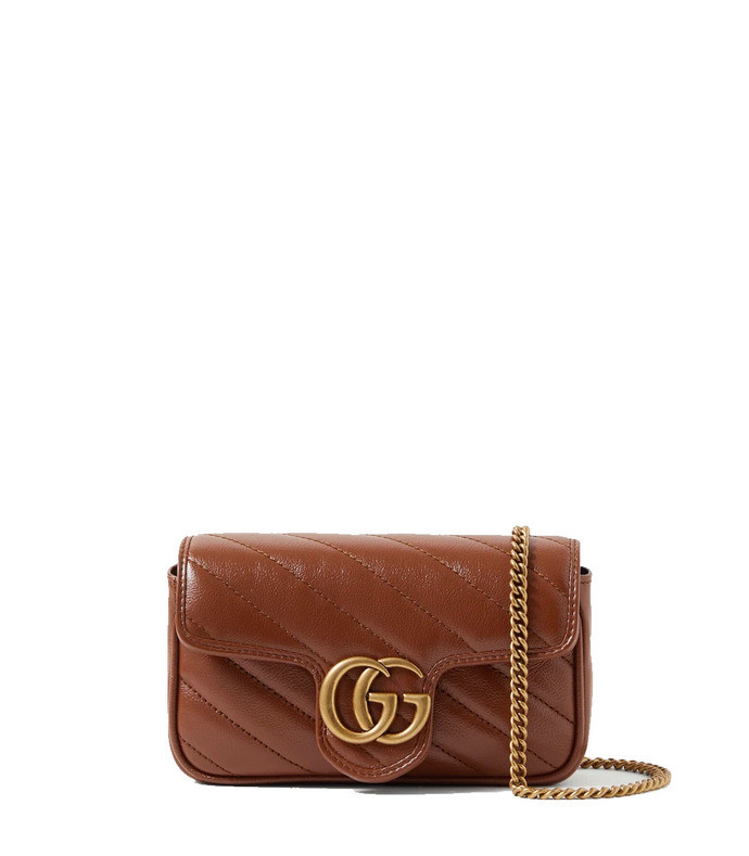 gg marmont super mini quilted leather shoulder bag