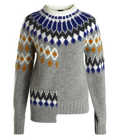 fair isle patchwork wool sweater