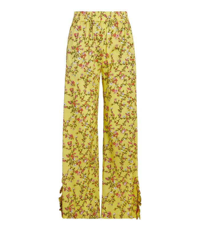 nissa printed stretch-silk trousers