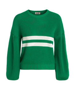 celeste striped ribbed-knit sweater