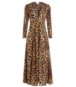 leopard print silk robe