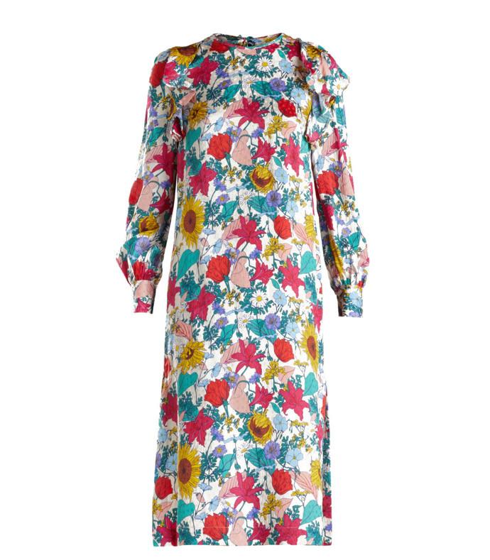 alfa floral silk dress