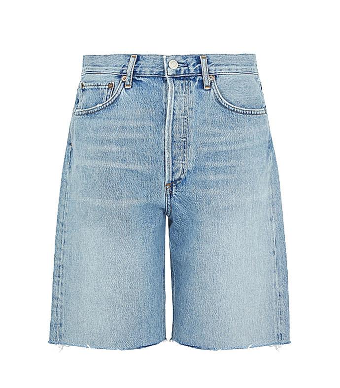 90's pale blue denim shorts