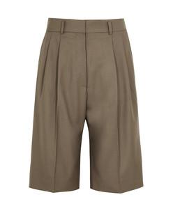 hew brown wool shorts