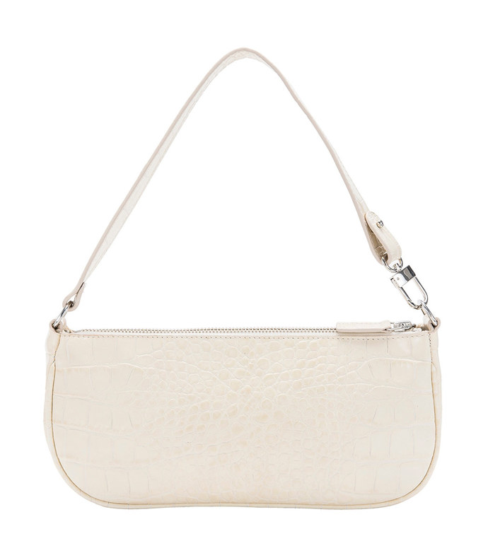 rachel ivory crocodile-effect shoulder bag