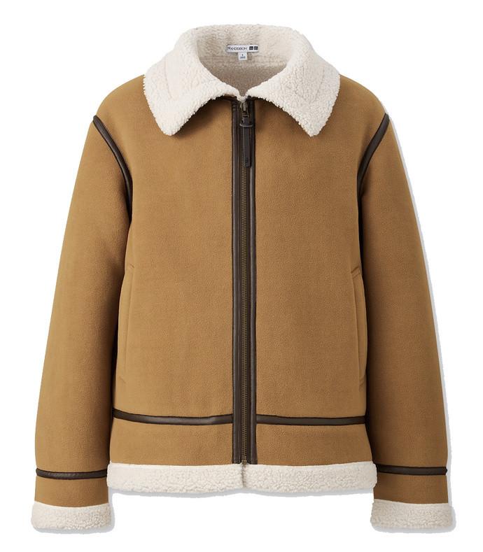x jw anderson pile-lined fleece blouson
