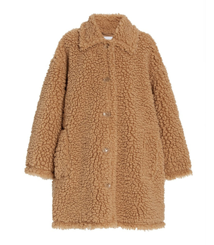 jacey oversized faux shearling jacket