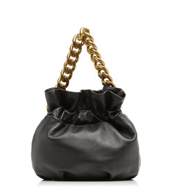 grace chain-trimmed leather clutch