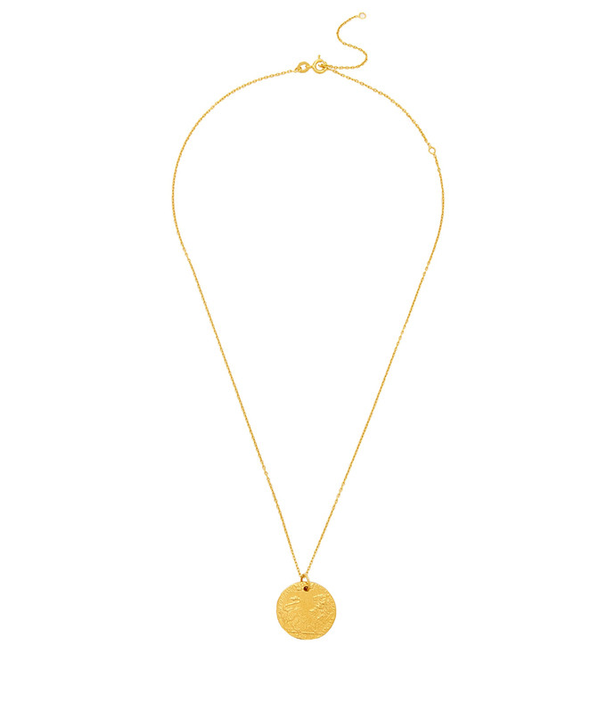 the medium leone 24kt gold-plated necklace