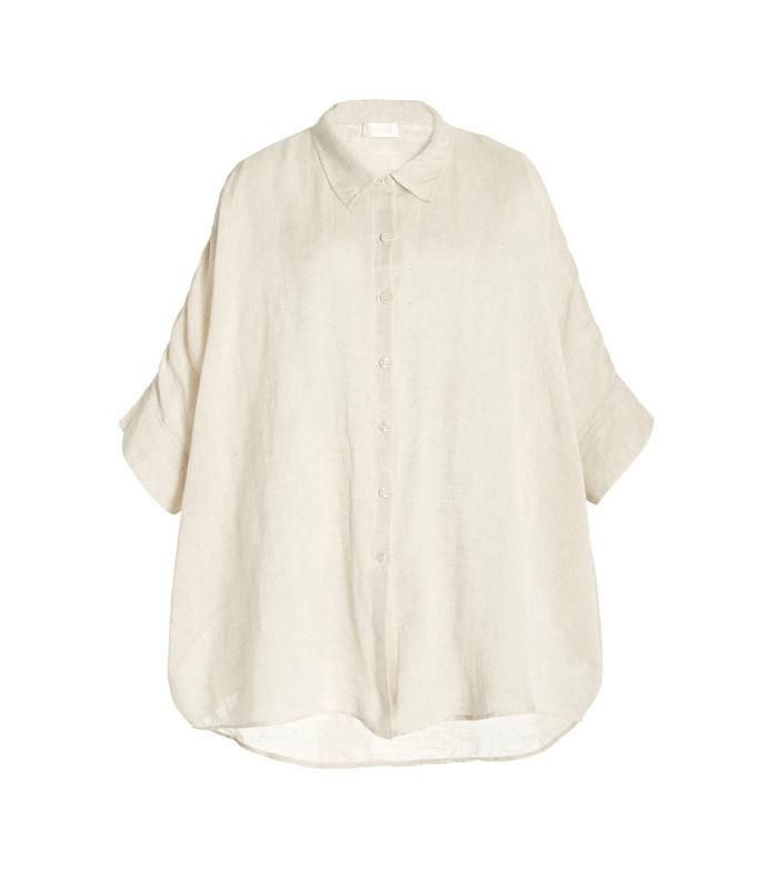 exclusive lula oversized linen cotton shirt