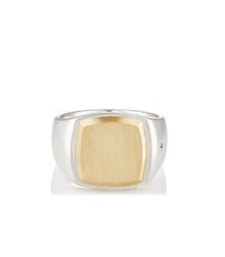 cushion goldtop signet ring