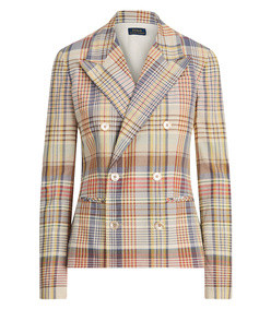 madras cotton blazer