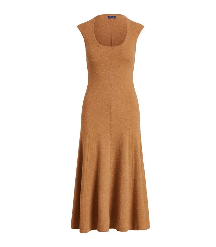 cashmere cap-sleeve dress
