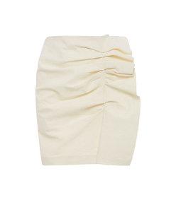 lefly ruffled cotton-blend mini skirt