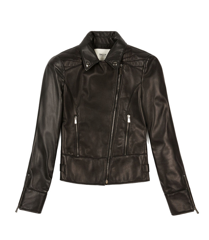 biker jacket leather outerwear in black