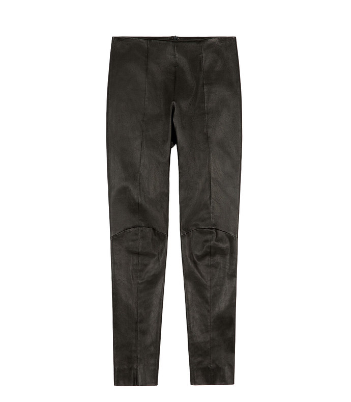 leather leggings nappa leather bottoms in black