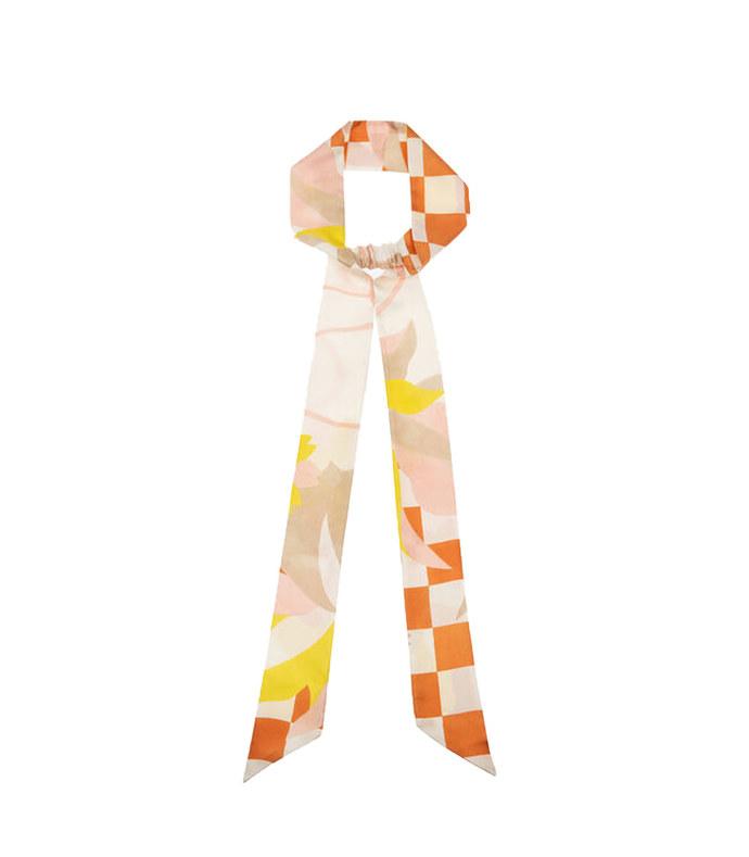 checkerboard silk scrunchie