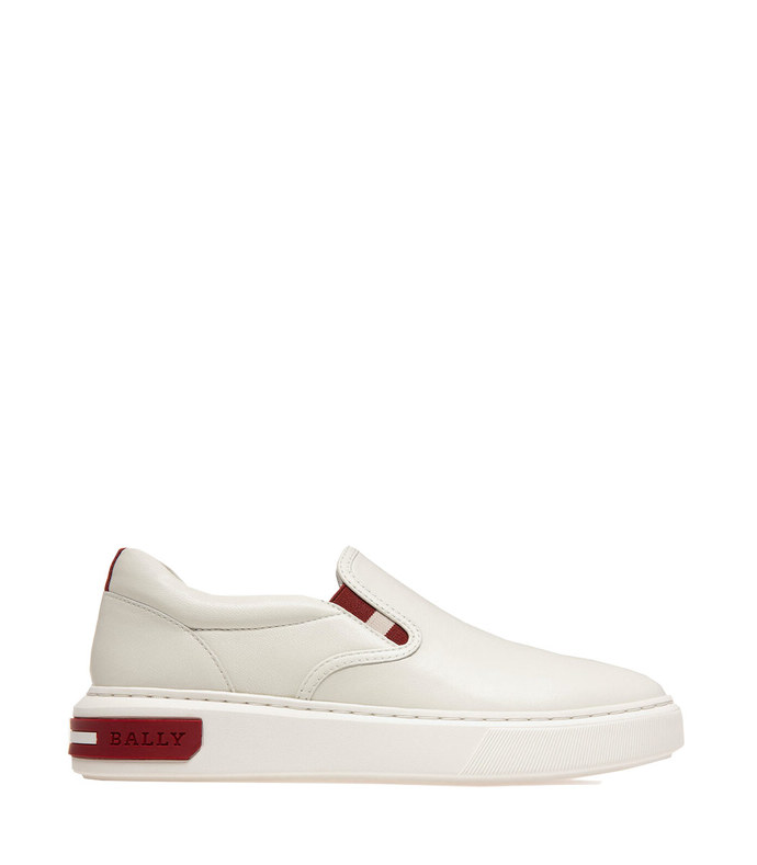 mya leather sneakers in white