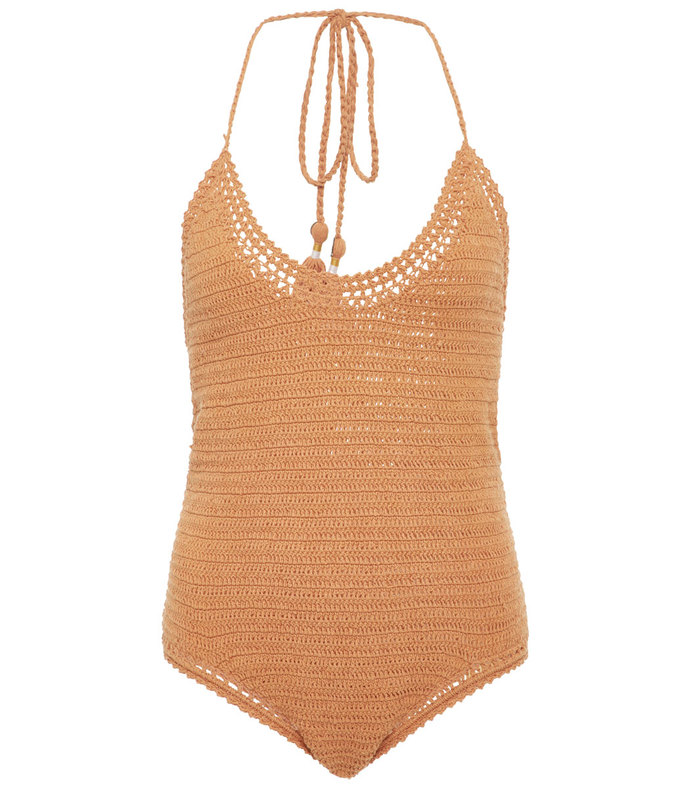 crocheted one-piece swimsuit