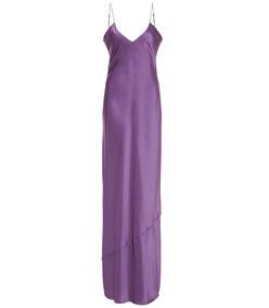 cami silk-charmeuse slip gown