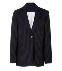 pinstripe double layered blazer jacket