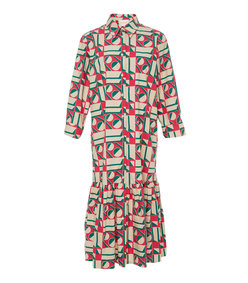 getting my croissant stretch-cotton shirt dress