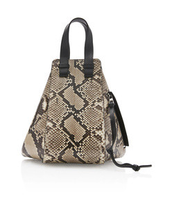 hammock python and leather bag