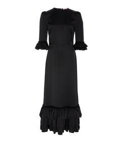 cinderella ruffled silk-satin midi dress