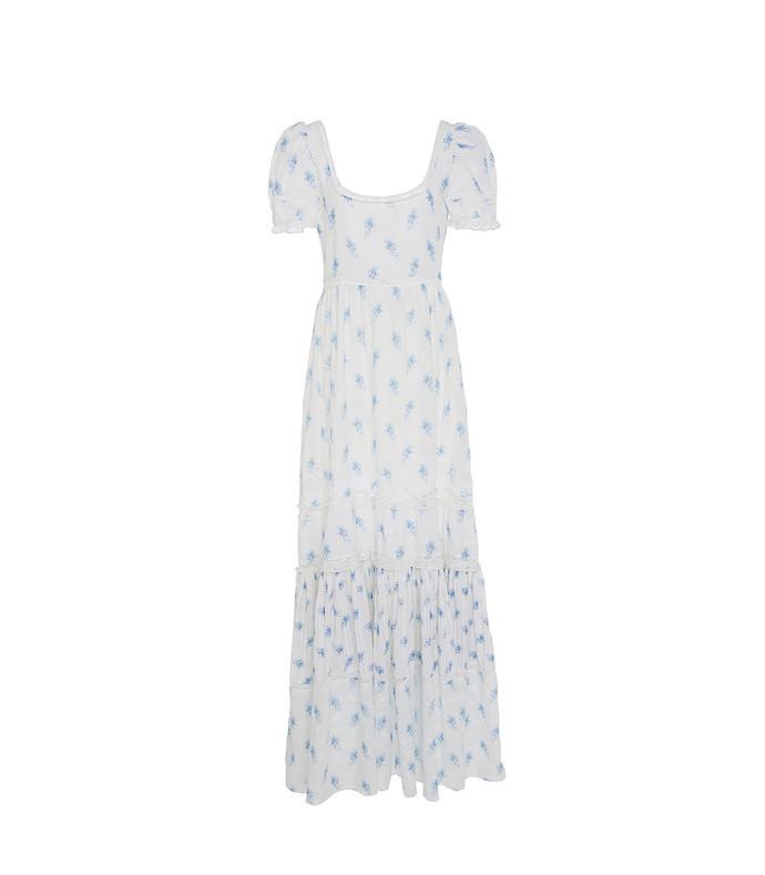 ryan floral print cotton-voile maxi dress