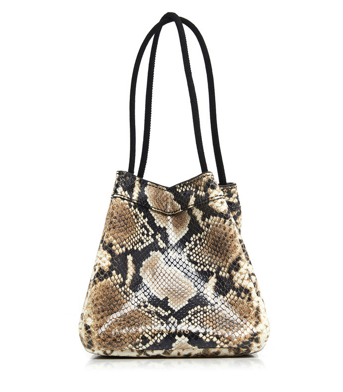 rita snake-effect leather tote