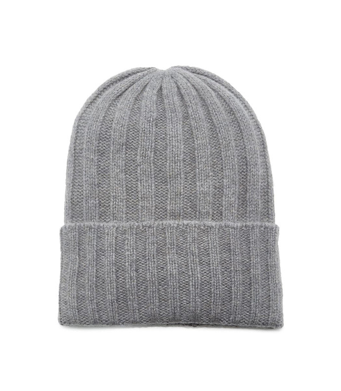 watchman striped ribbed cashmere beanie